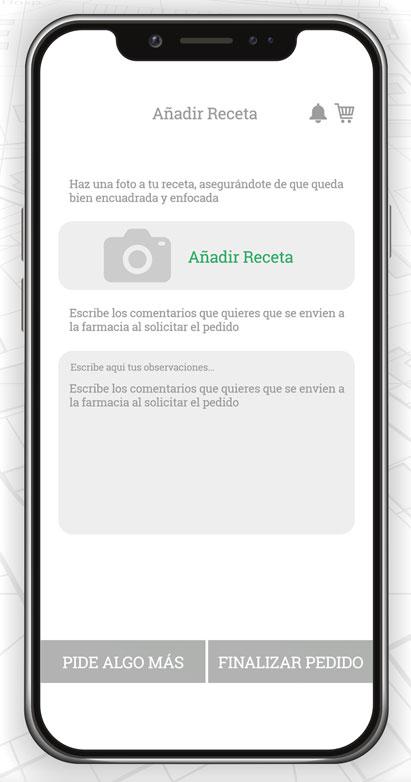 Telefarmacia App - Añadir receta de medicamento